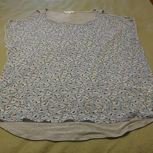 Vince Camuto high low cold shoulder blouse size XL